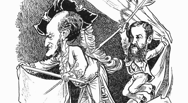 Wagner Spitzer Karikatur (Public Domain)